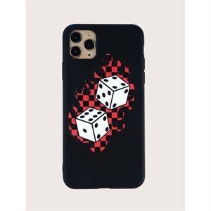 Checkered Dice Print iPhone 11 Pro Max Case 🎲